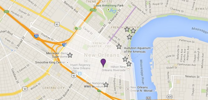 Marriott New Orleans Map.Directions To The Lafayette Hotel In Downtown New Orleans La