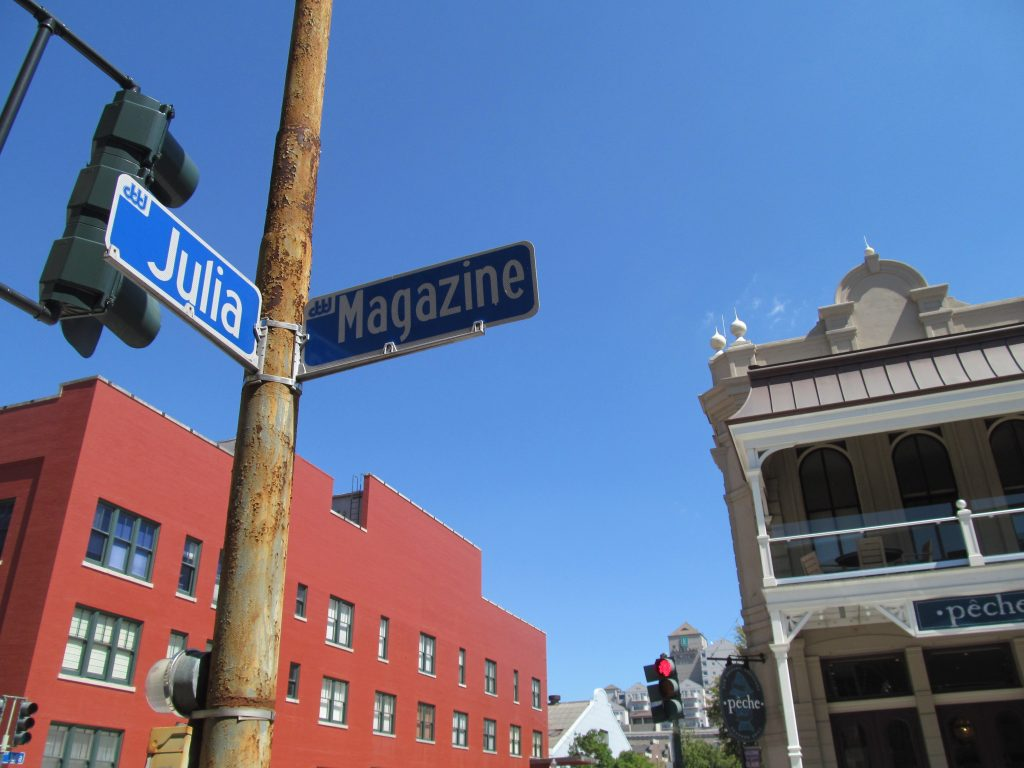 Julia Street Near the Lafayette Hotel