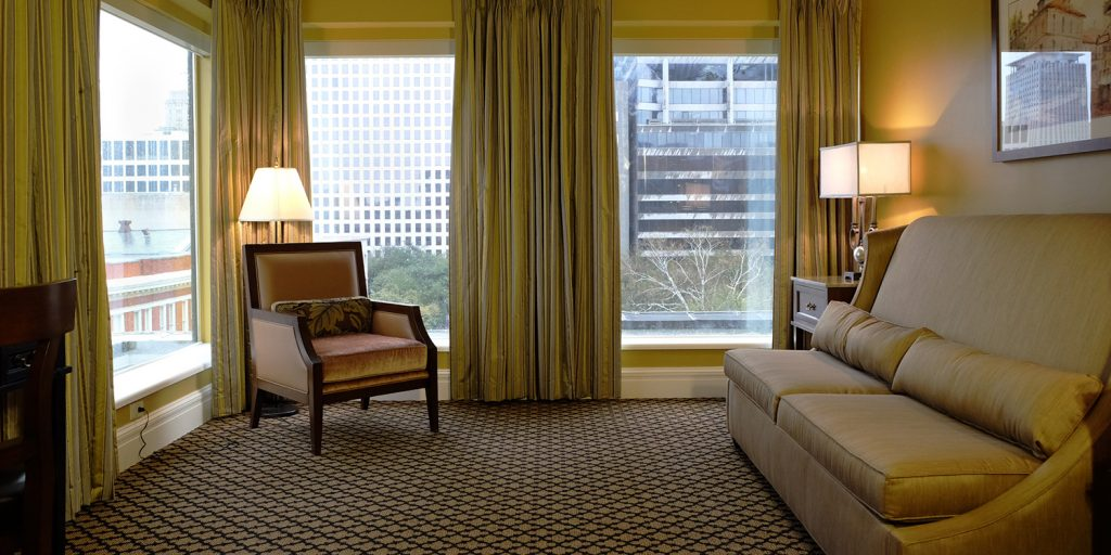 City views at the Lafayette Hotel in New Orleans