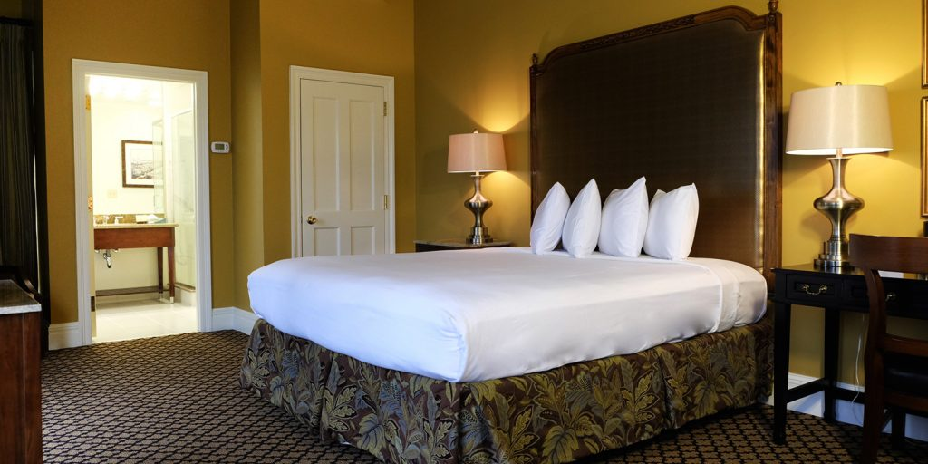 Beautiful rooms at Lafayette Hotel in New Orleans
