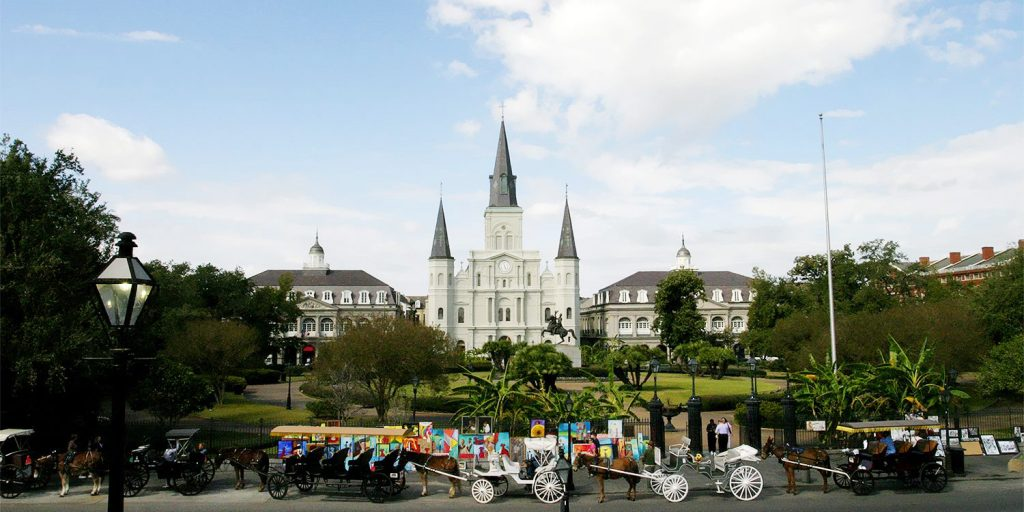 Beautiful Jackson Square in New Orleans
